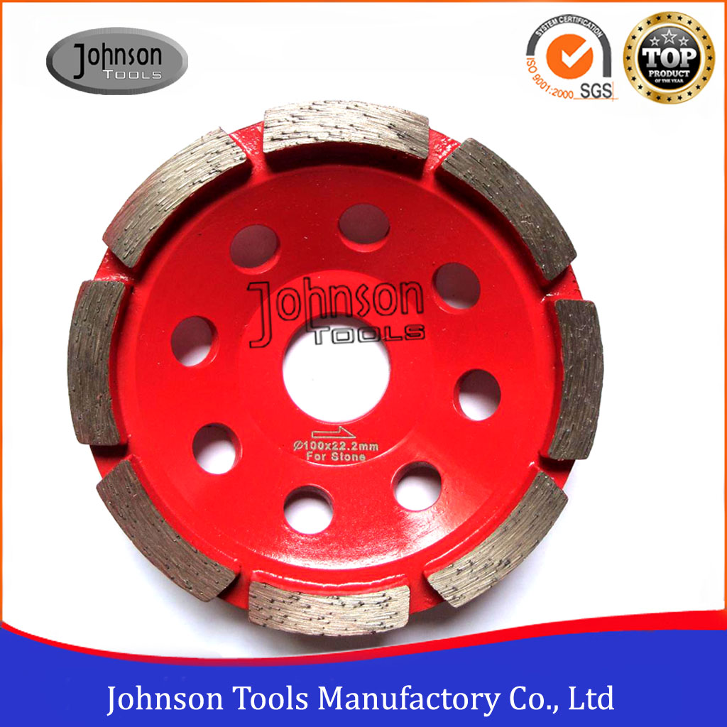 105mm Diamond Single Row Cup Wheel for Stone