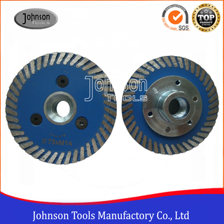 50mm, 75mm granite or marble cutting and carving sintered saw blade with M14 flange.