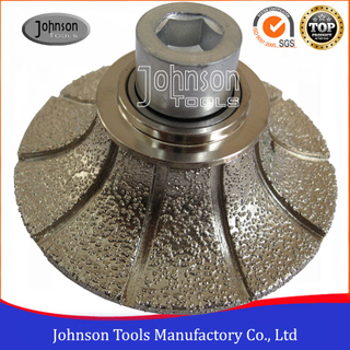 Vacuum Brazed Diamond Router Bit Half Bullnose Type