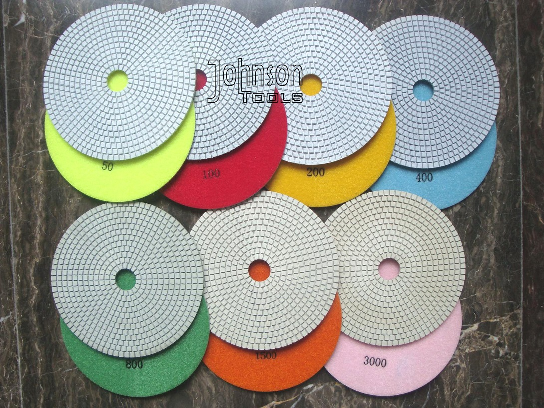 7 Inch White Wet Polishing Pads for Granite